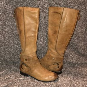 Enzo Angiolini Tall Tan Leather Boots 8